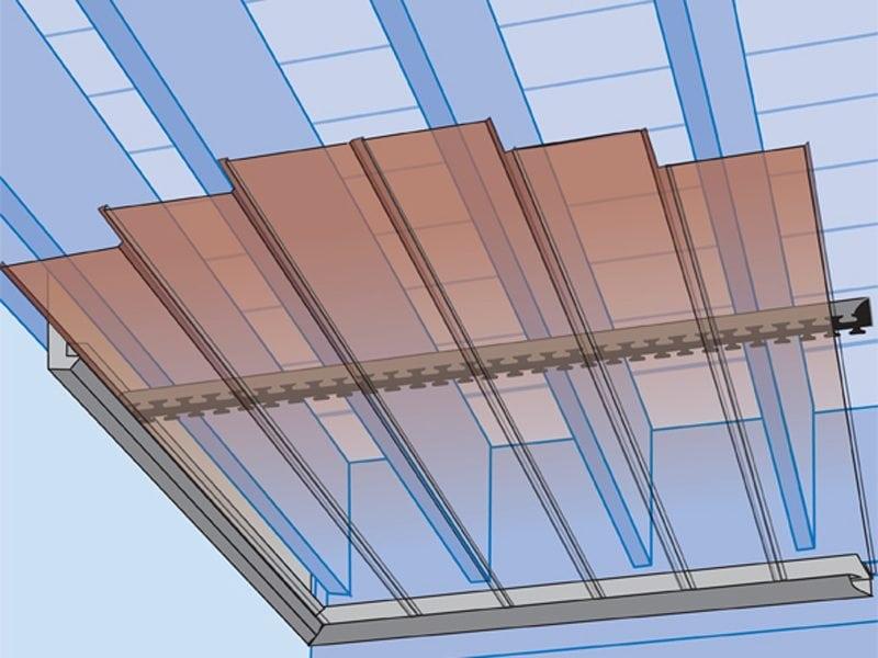 Système sous-balcon InsideOut gouttière